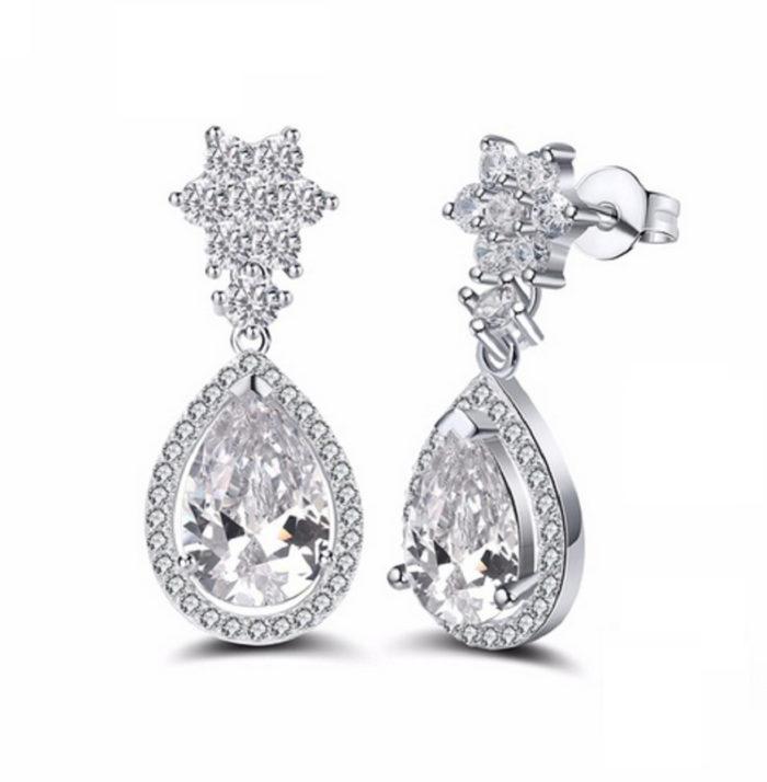 cz dangle earrings