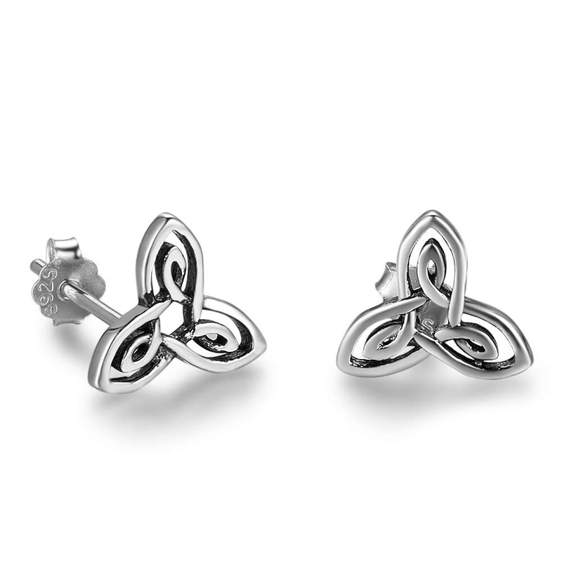 Flower Silver Stud Earrings S925 Vintage Style