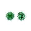 Green Sun Flower Stud Earrings