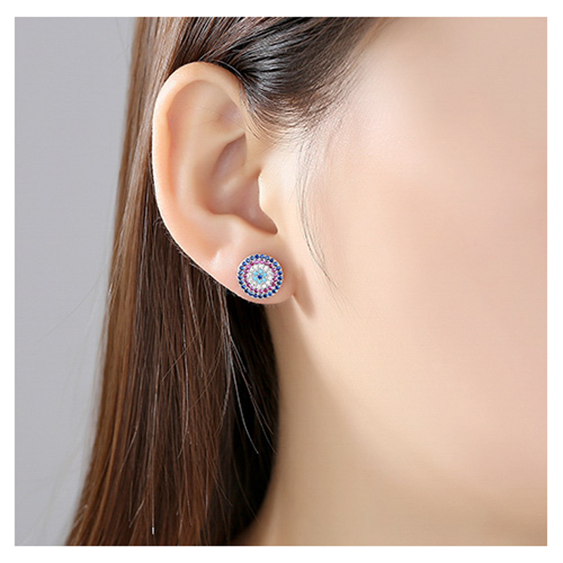 multi-color-cz-enamel-s925-circle-stud-earrings