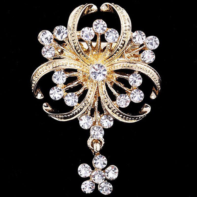 Rhinestones Elegant Bouquet Brooch