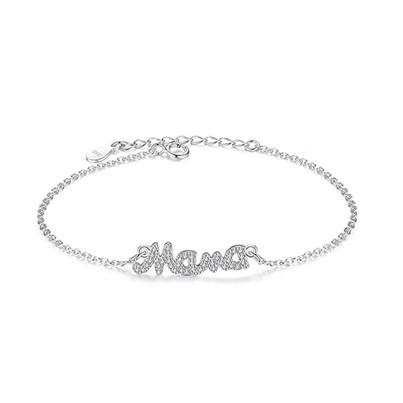 Mama Bracelet Pendant 925 Sterling Silver CZ