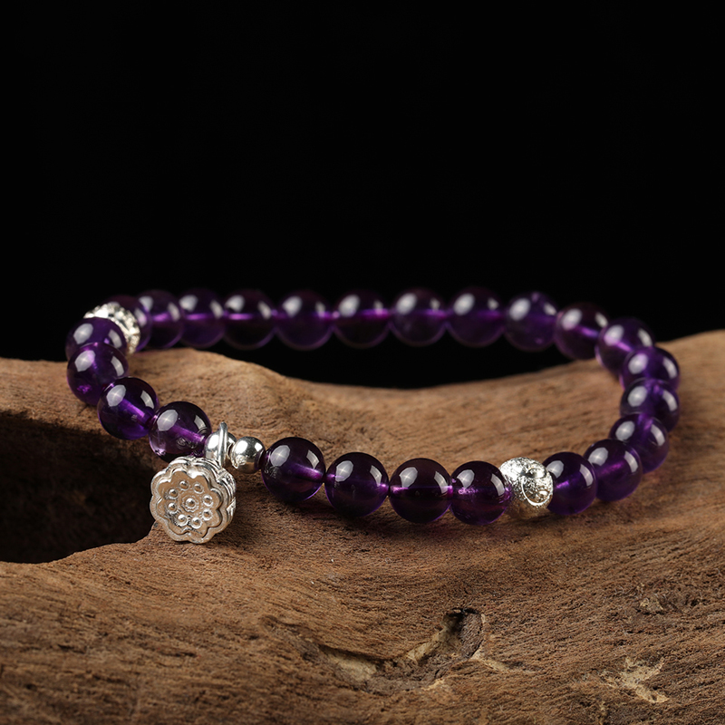 925-sterling-silver-lotus-charm-stretch-amethyst-bead-bracelet