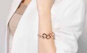 Cubic Zirconia Double Layer Circles Bracelet