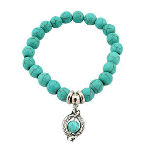 Turquoise Bracelet with a Charm