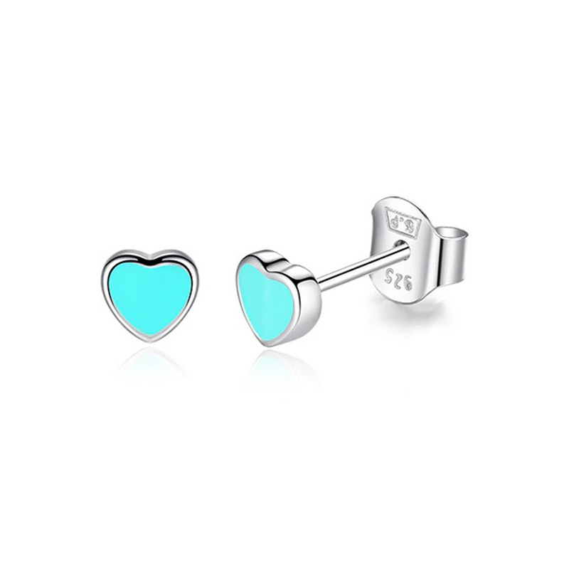 b-cute-stud-earrings-enamel-925-sterling-silver