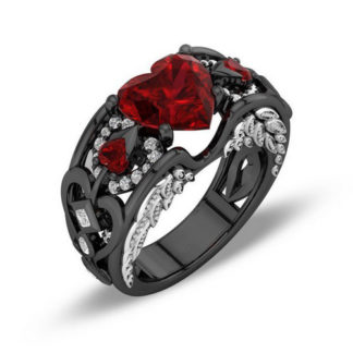 black-gold-filled-ring-red-size-7