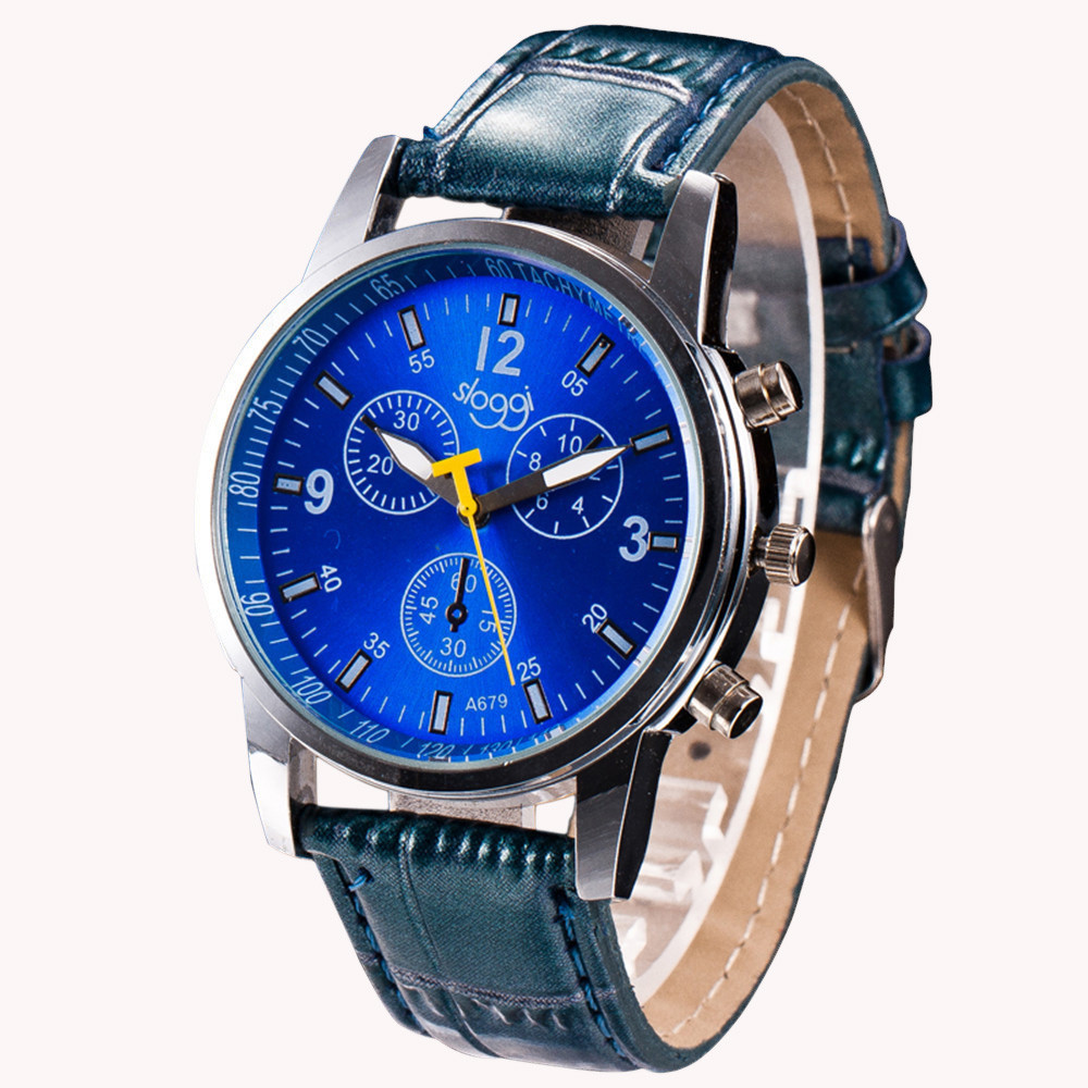 Crocodile Faux Leather Watch