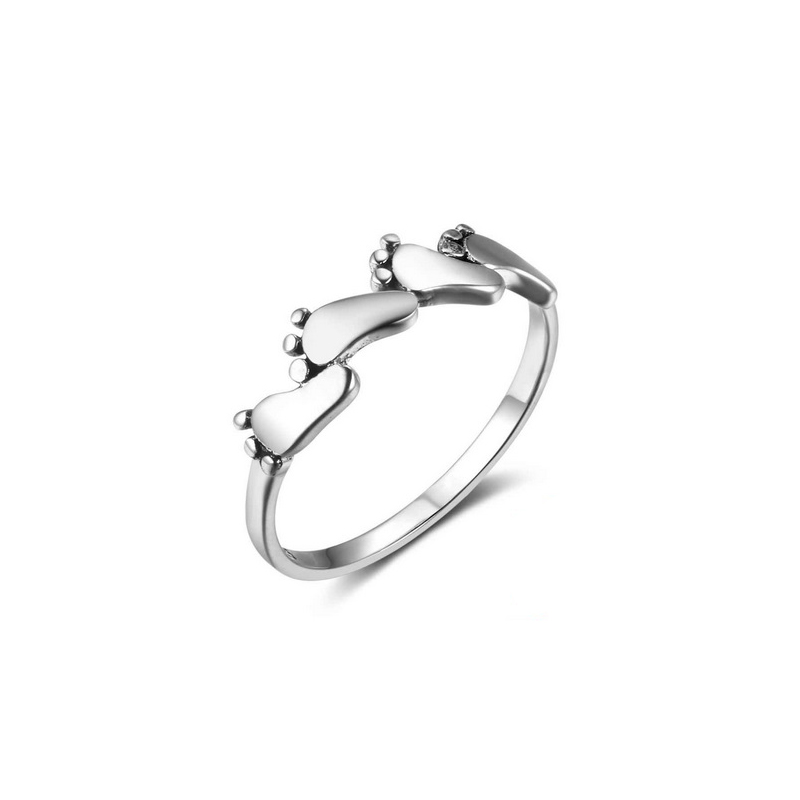Four Feet Ring 925 Sterling Silver Jewelry Gift