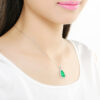 green-chalcedony-pendant-necklace-water-drop-925-sterling-silver