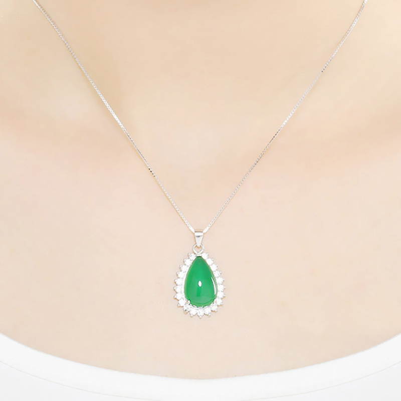 pendant-necklace-water-drop-s925-chalcedony