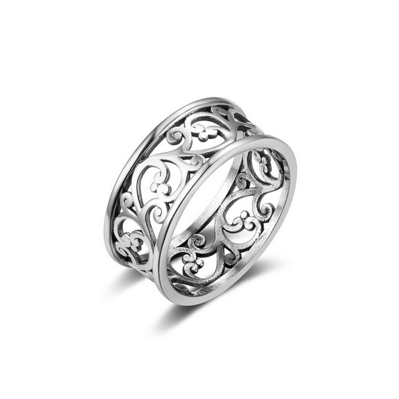 Vine Wave Silver Ring S925 Vintage Style
