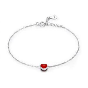 Red Heart Silver Charm Bracelet