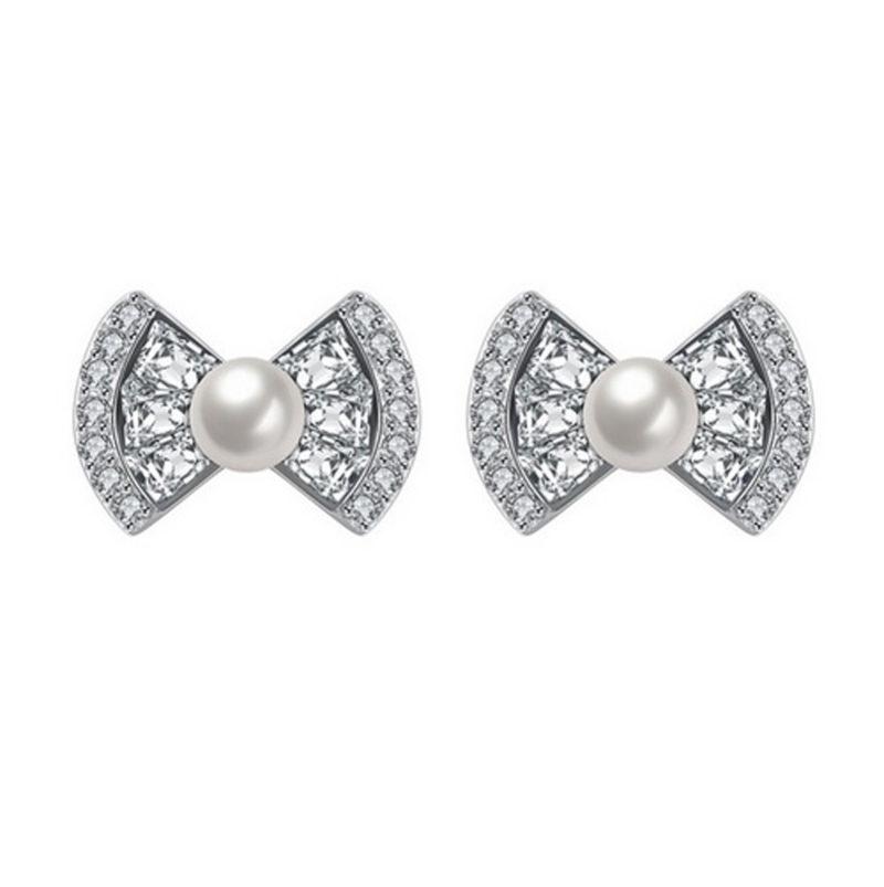 Bow Tie Stud Earrings