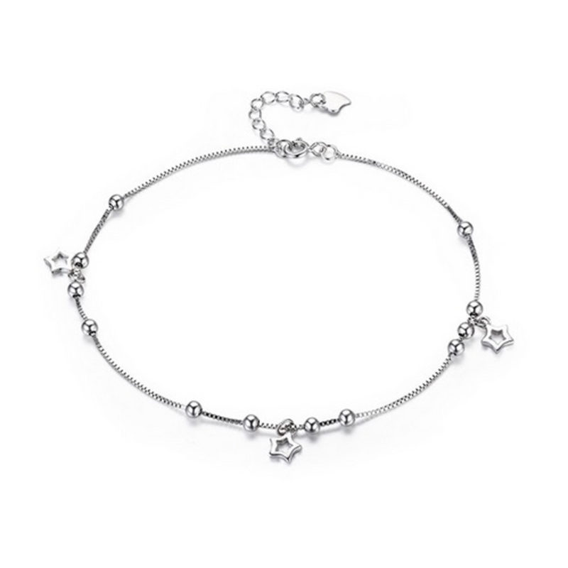 Three Star Anklet 925 Sterling Silver