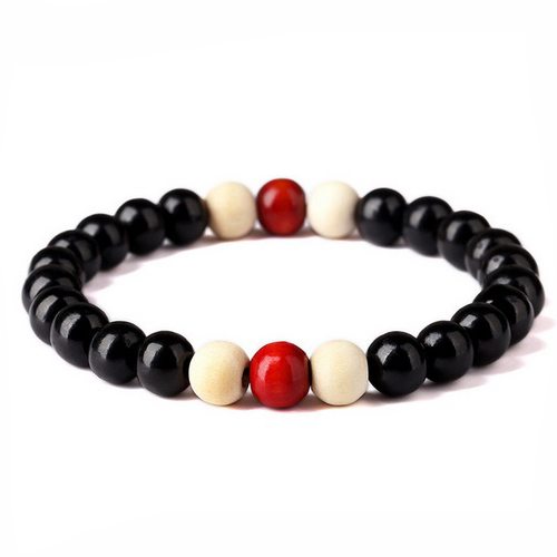 Wooden Bracelet Yoga Beaded Stretch