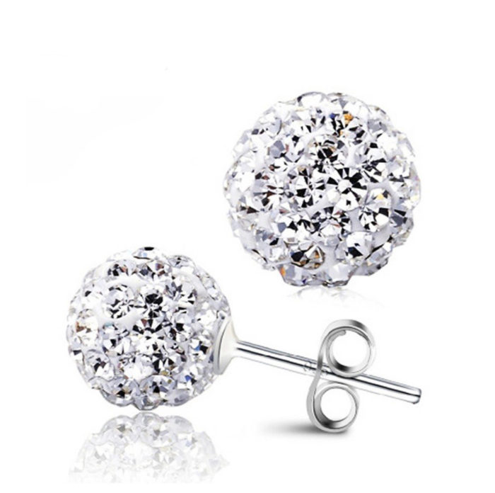Crystal Ball Stud Earrings