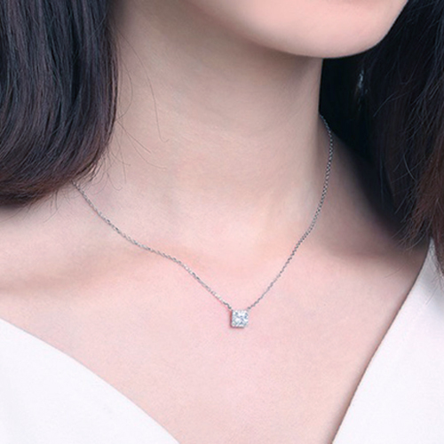 cubic zirconia 925 pendant necklace