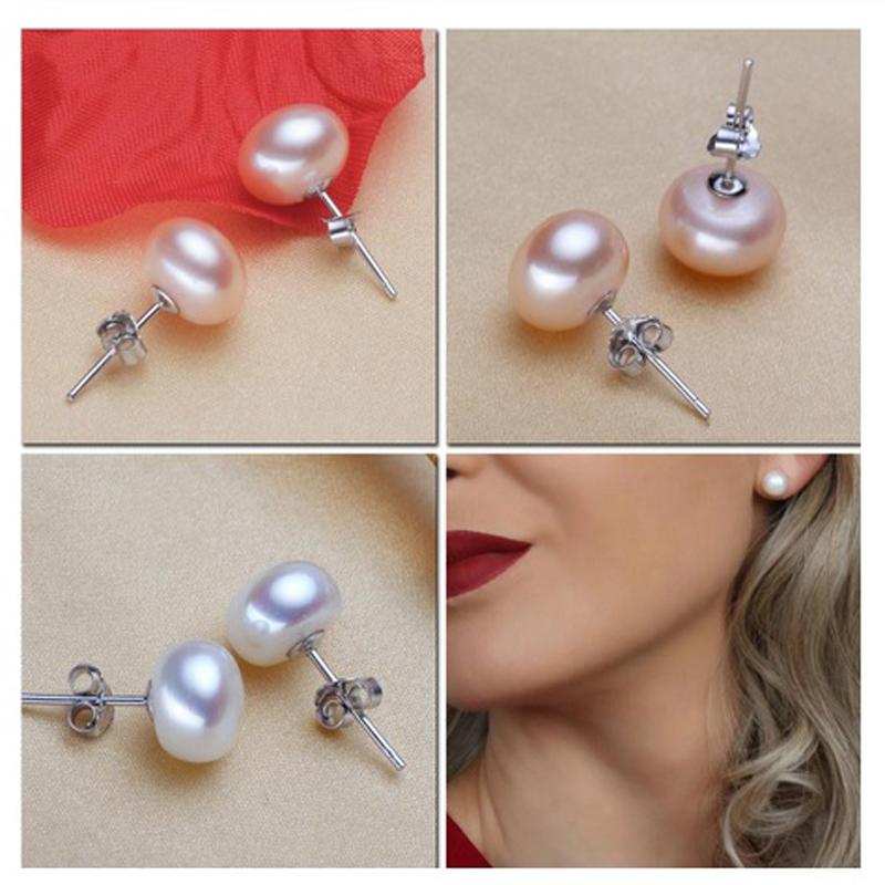 Pearl Earrings Stud 925 Sterling Silver