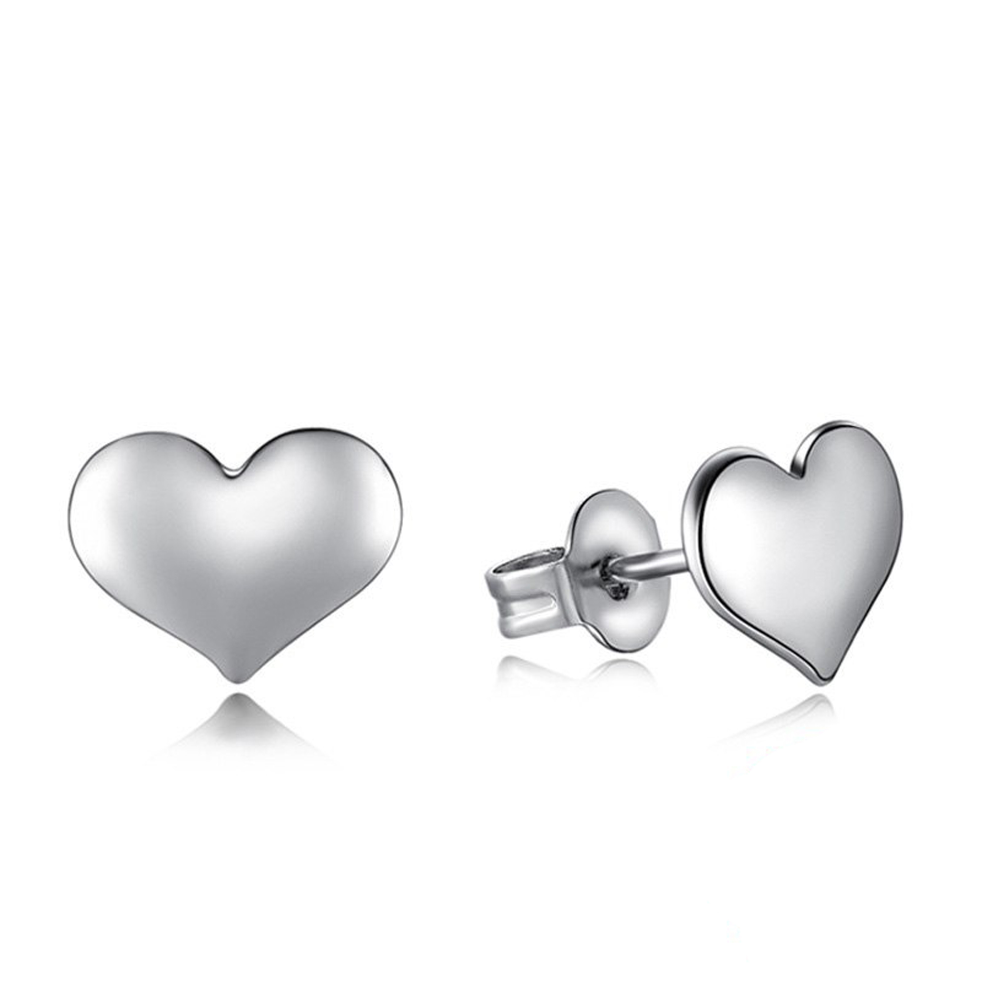 Silver Heart: Silver Heart Stud Earrings