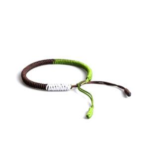 Army Color Handmade Tibetan Lucky Knot Bracelet