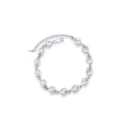 Chain Bracelet 925 Sterling Silver Cubic Zirconia