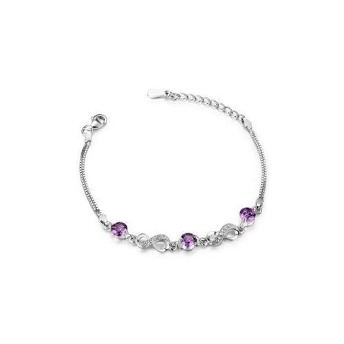 Infinity Silver Bracelet S925 Cubic Zirconia