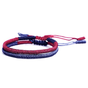 Handmade Multi Color Tibetan Buddhist Lucky Knot Rope Bracelet