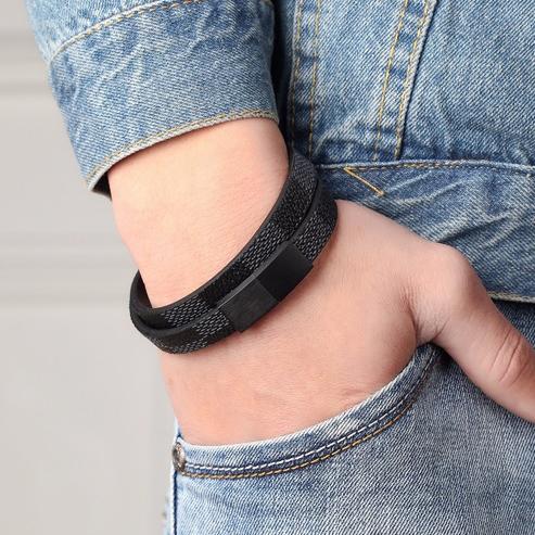 Magnetic Genuine Leather Bracelet for Men