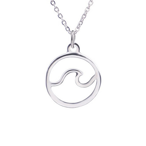 Ocean Wave Pendant Necklace