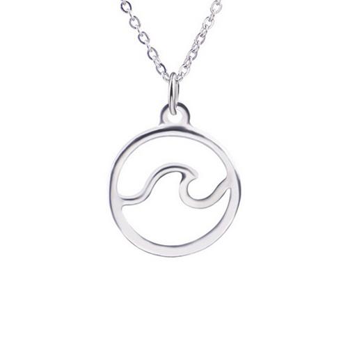 Ocean Wave Pendant Necklace
