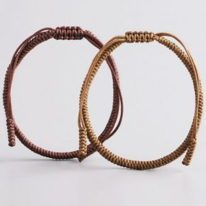 Brown Beige Lucky Knot Bracelet
