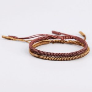 brown-beige-lucky-knot-bracelet