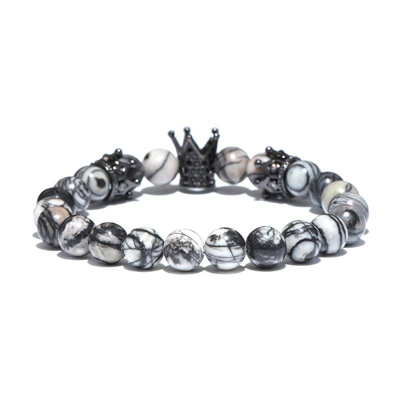 larvikite-beaded-crown-bracelet-cz-stretch-charm
