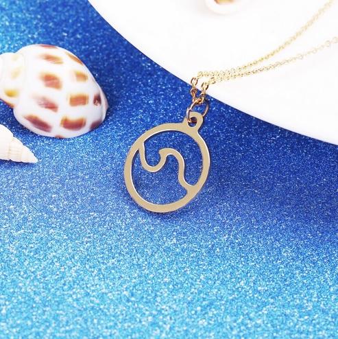 ocean-wave-gold-pendant-necklace