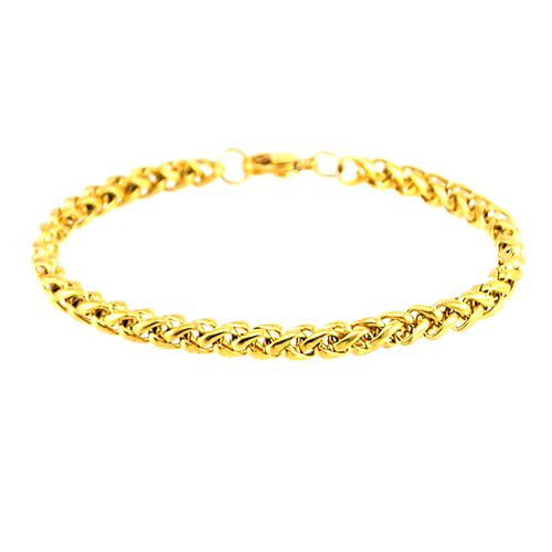 Gold Silver Chain Bracelets Stainless Steel Silver Gold Plated