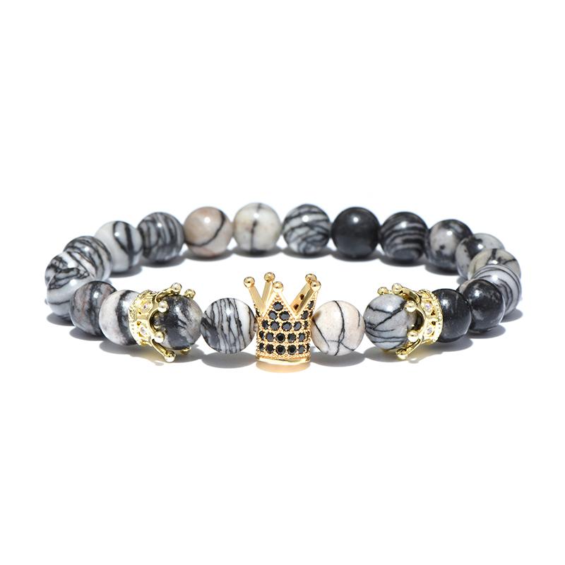 yellow-gold-larvikite-beaded-crown-bracelet-cz-stretch-charm