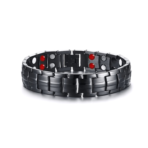 Black Stainless Steel Healing Germanium Infrared Negative Ion Magnetic Bracelet