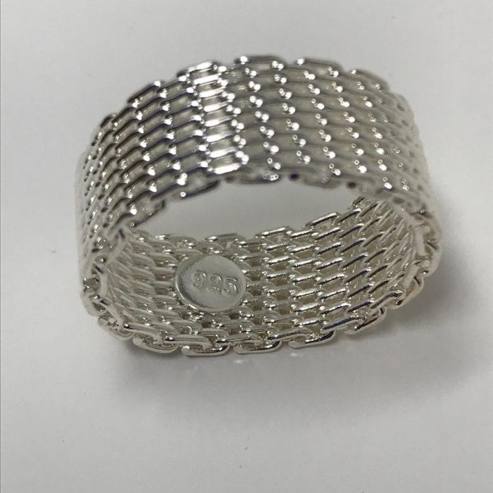 925 Sterling Silver Net Ring