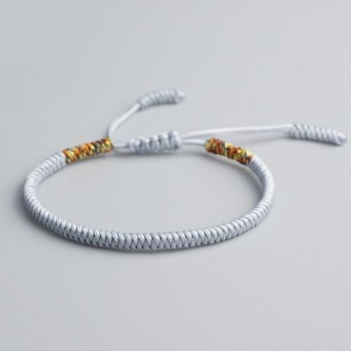 Grey Lucky Knot Bracelet