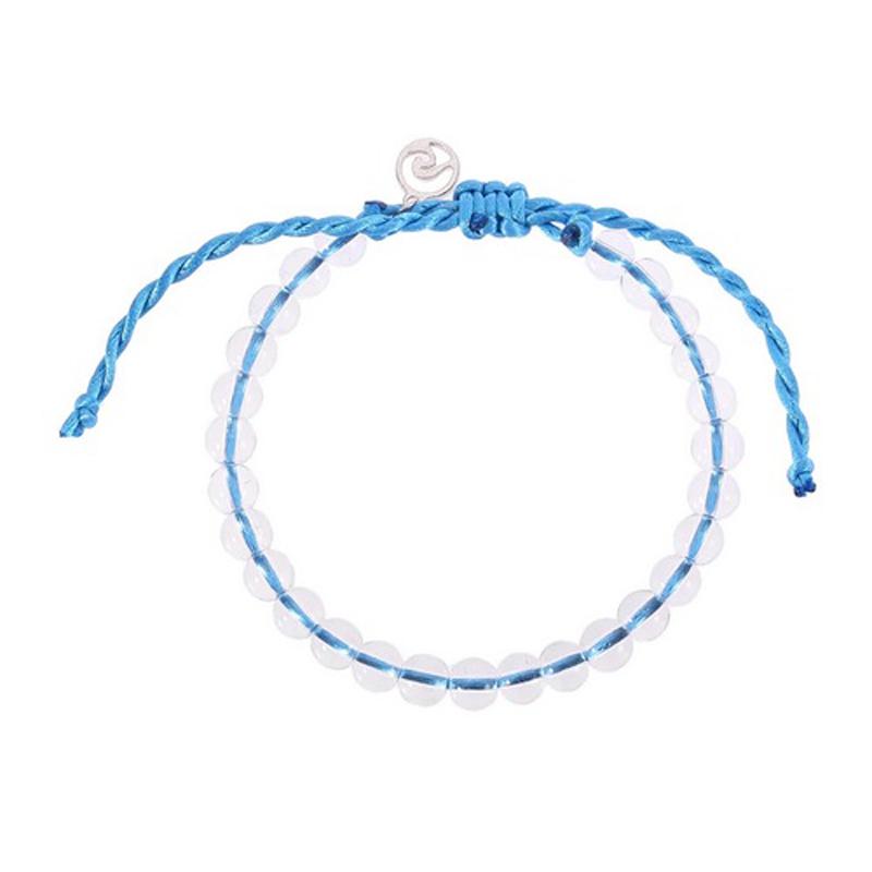 Wave Charm Friendship Bracelet Handmade Knot