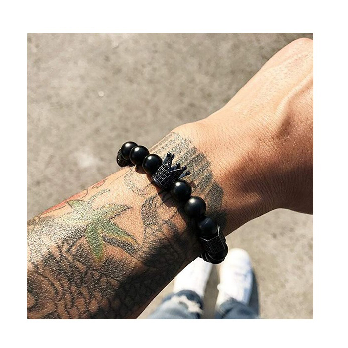black-cz-matte-onyx-crown-charm-beaded-bracelet