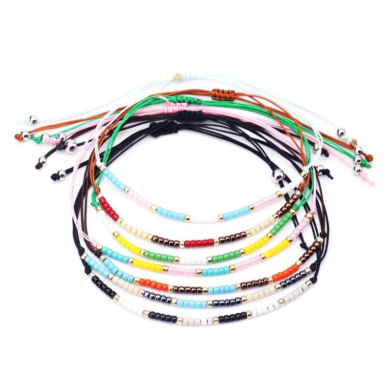 Handmade Seed Beaded Bracelet Bohemian Lucky Love