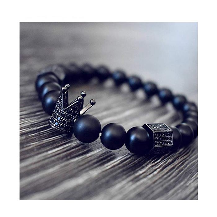 crown-bracelet-black-cz-matte-onyx