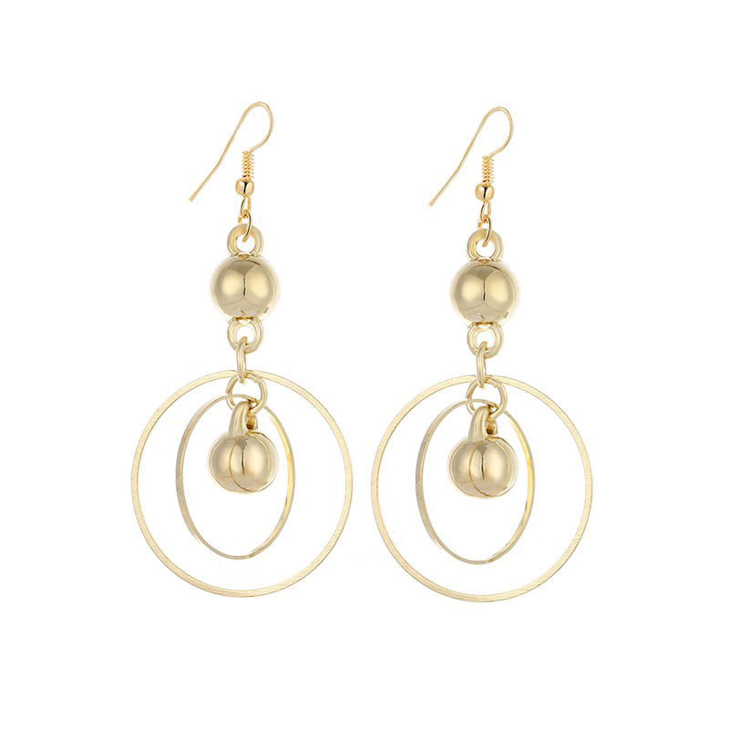 Dangle Circles Earrings Stainless Steel