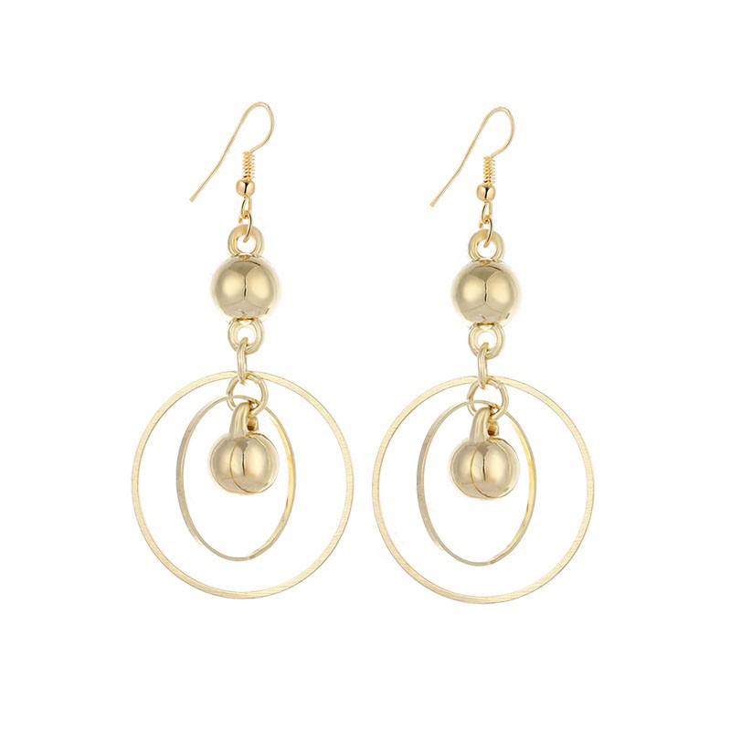 Dangle Circles Earrings Stainless Steel