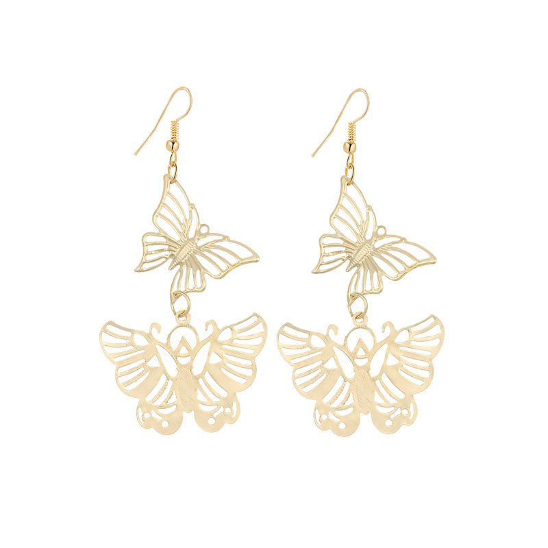 Dangle Flying Butterflies Earrings Stainless Steel