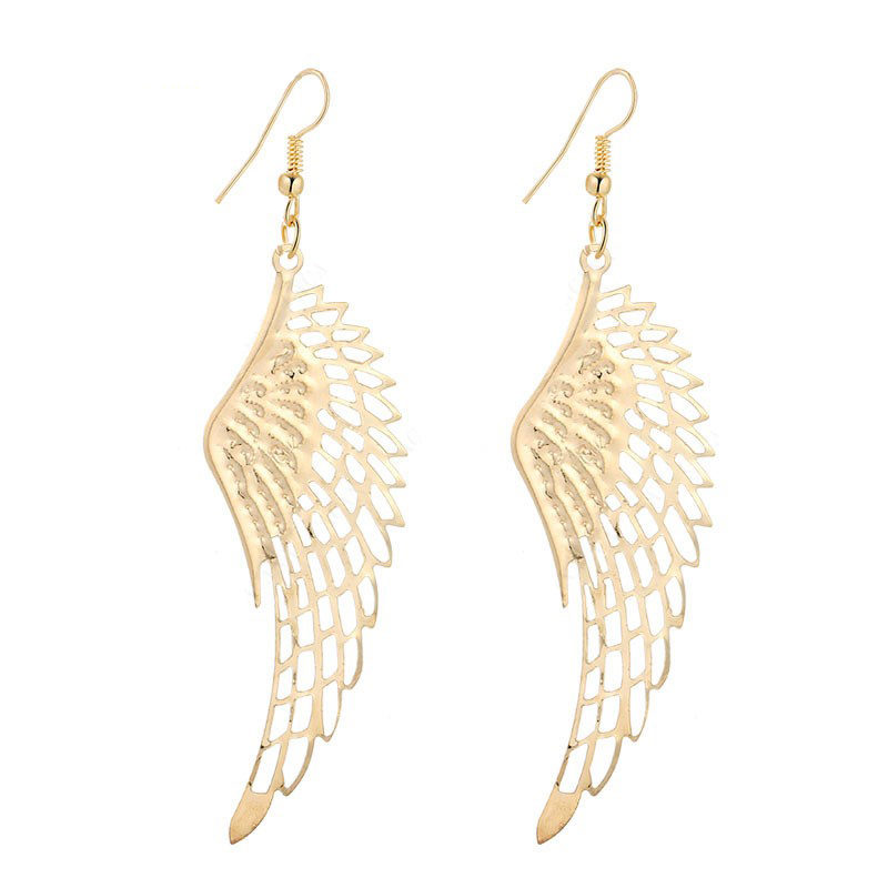 Dangle Wings Earrings Stainless Steel