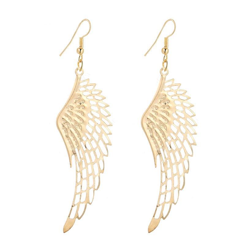 Dangle Wings Earrings Stainless Steel
