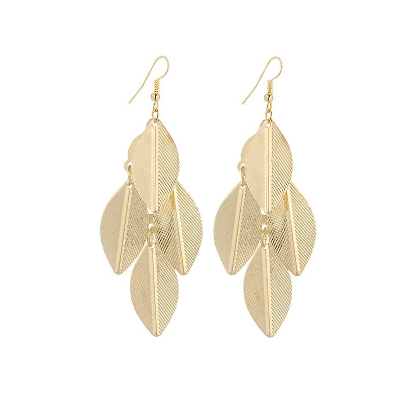 Leaves Earrings Dangle Stainless Steel